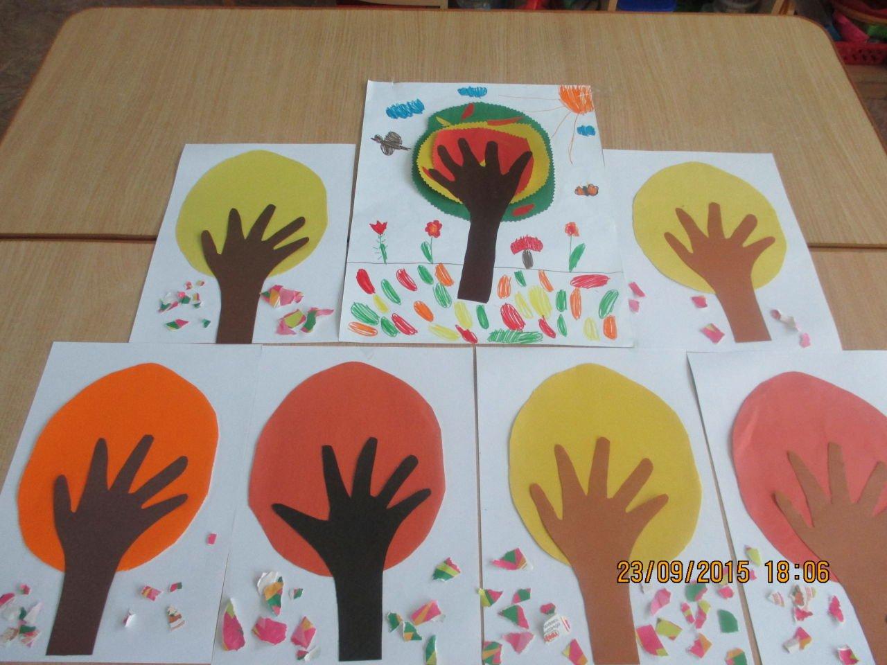 Осень аппликация в детский сад