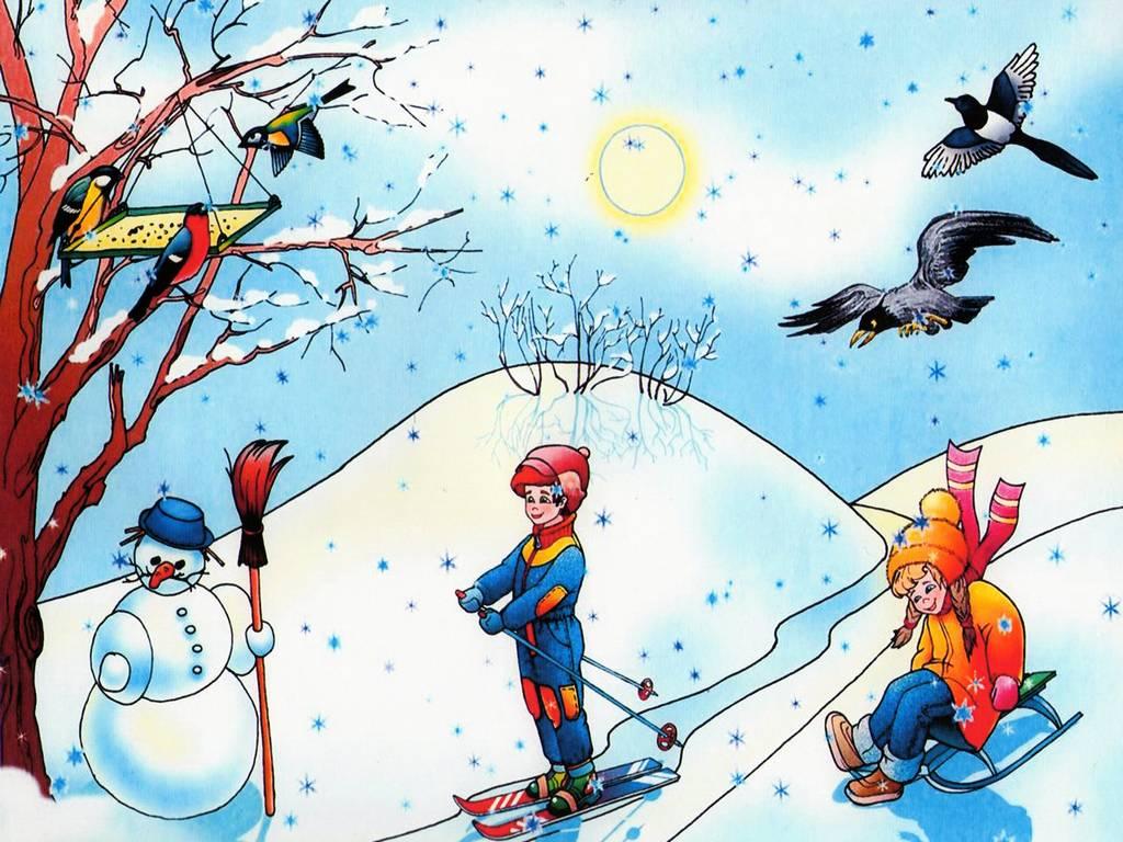 картинки для детей времена года зима многие